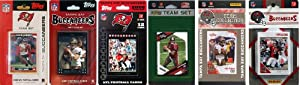 NFL Tampa Bay Buccaneers Six Different Licensed Trading Card Team Sets by C&I Collectables