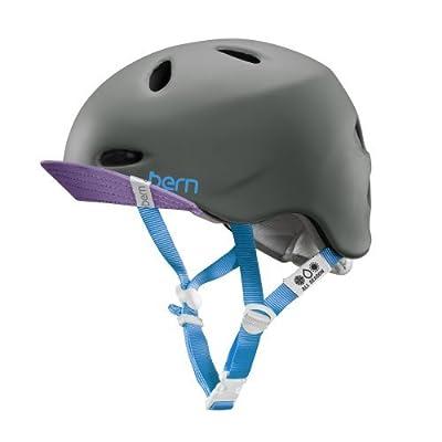 Bern Satin White-Multi 2015 Berkeley Zipmold-Flip Visor Womens MTB Helmet from Bern