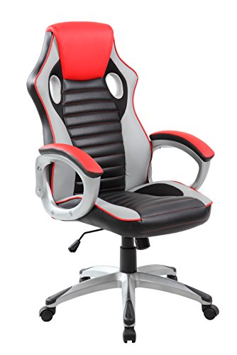 Racing Style PC Computer Gaming Chair Executive Swivel PU Leather