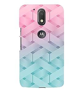 PrintVisa Modern Art Knitted Pattern 3D Hard Polycarbonate Designer Back Case Cover for Motorola Moto G4 Plus