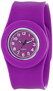 "Slide Kids' SL1P-JUDV ""Slap Jumbo"" Watch with Purple Silicone Band"