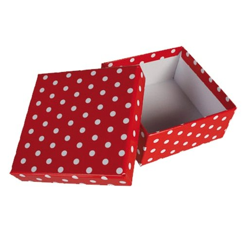 Gift Boxes RED DOTS - Set of 8