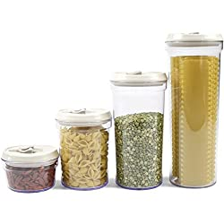 Food Storage Canisters (4-Piece Set) - Airtight, Non-Breakable & BPA-Free