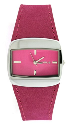 Lorus Watch Hot Pink Leather Dial Ladies LR2042 Sale New Model