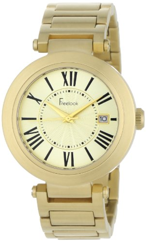 Freelook Women's HA1234GM-3 Cortina Roman Numeral Matte Gold  Watch