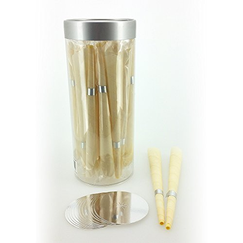24pc Natural Trumpet Beeswax & Cotton Cloth Hollow Candle Set (Wax Cones For Ears compare prices)