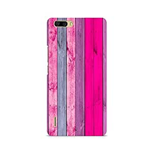 Motivatebox- Pink Wood Shade Premium Printed Case For Huawei Honor 6 Plus -Matte Polycarbonate 3D Hard case Mobile Cell Phone Protective BACK CASE COVER. Hard Shockproof Scratch-