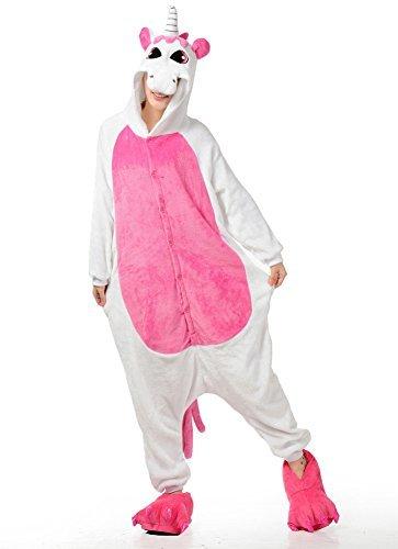 Trs-Chic-Mailanda-Unisexe-Kigurumi-Cosplay-Combinaison-Pyjama-ou-DguisementLicorne-Rose