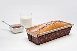 Rectangular Paper Baking Loaf Pan Good With Thick Batters and Dough, Pound Cake, Carrot Cake, Chocolate Cake, Size 8 7/8\