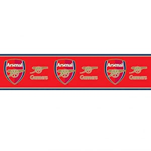 Arsenal F.C. Wallpaper Border- wallpaper border- width 13.5cm- length 5m- official licensed product by Wallpaper / Lighting