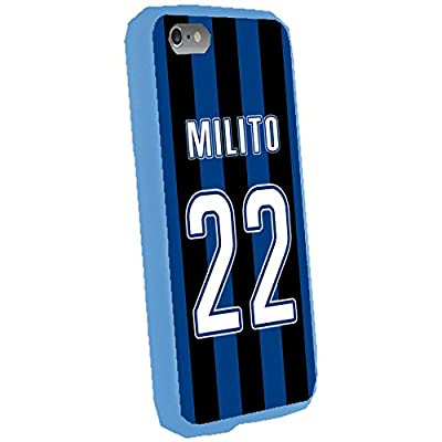 Diego Milito - Inter Milan Soccer Color Background Jersey Case Cover For Apple iPhone 6 Plus 5.5 inch (Blue)