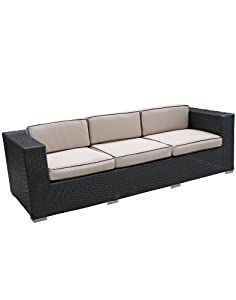Daytona Outdoor Rattan Couch from East End Imports