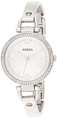 Fossil Women's ES3225 Georgia Analog Display Analog Quartz Silver Watch