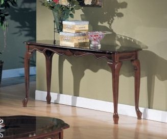 Cheap Queen Anne Style Console Table in Espresso Finish (F6008)