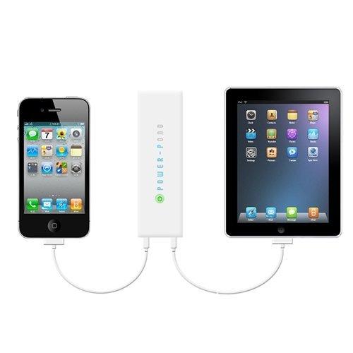 ルックイースト 大容量モバイルバッテリー 12,000mAh ホワイト LE-UBT12K-WH