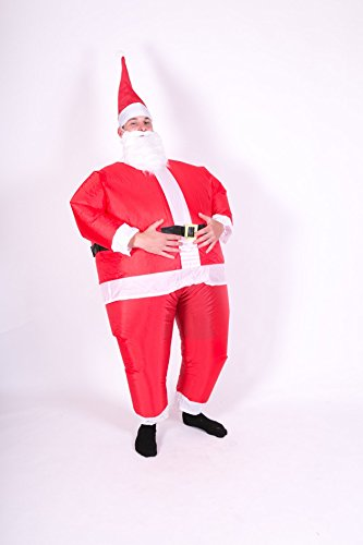 Inflatable Santa Adult Fancy Dress Costume
