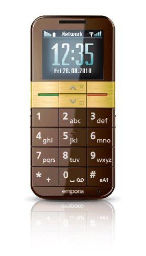 Emporia Elegance Téléphone portable Ecran OLED Marron - Emporia