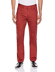 Ruggers Mens Casual Trouser (8907002532152_252716566_30W x 38L_Red)