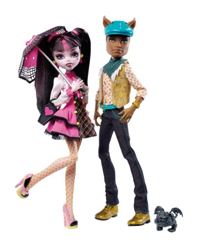Monster High Draculaura And Clawd Wolf Twin Pack.
