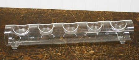 Elegant And Classic Round Glass Tube With Space For 5 Tealight Candles A Beautiful Display Holder - Tube Can Be...