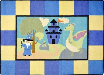 "Joy Carpets Kid Essentials Active Play & Juvenile Lil' Wizard Rug, Multicolored, 5'4"" x 7'8"""