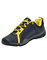 Adidas Men's Outrider Black And Yellow Mesh Running Shoes