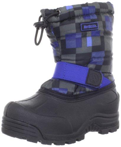 Northside Frosty Winter Boot (Toddler/Little Kid/Big Kid),Black/Royal,11 M Us Little Kid