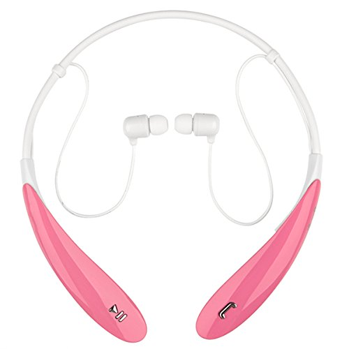 Click to buy ISKTech Wireless Stereo Bluetooth Headset Bluetooth Neckband Style Earphone Bluetooth Headphones ,Running Sport Headphones Earbuds Earphone with Mic Hands-free Calling for LG HBS 800 (Pink) - From only $7.99