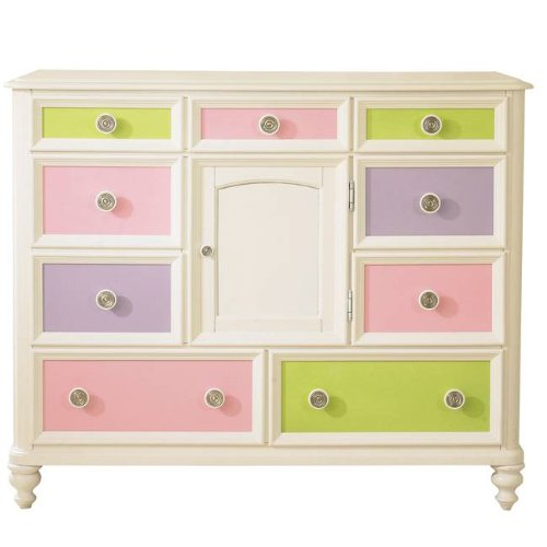 Cheap Pulaski Build-A-Bear Pawsitively Yours Kids Bureau Double Dresser in Vanilla (B0048TJUG4)