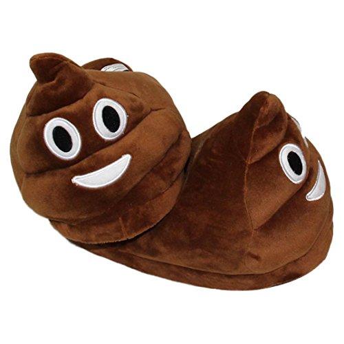 Sannysis® emoji Moda peluche Pantofole Espressione Creativa mezzo pacchetto con pantofole in lana (D)