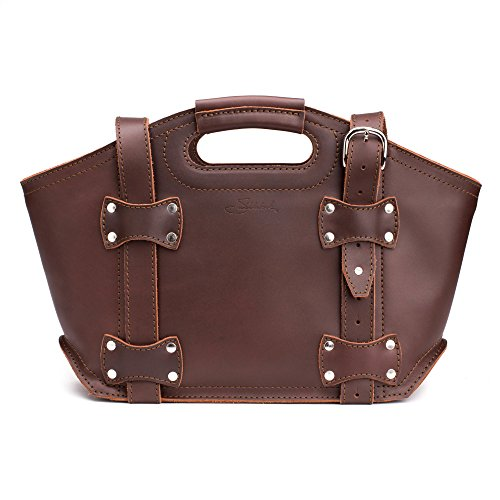 Saddleback Leather Small, Tote Bag in Chestnut