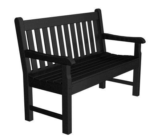 Poly-Wood Rockford 48-Inch Bench, Mahogany