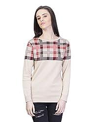 Kalt Women's Cotton Sweater(W128 XS_Multicolour_X-Small)