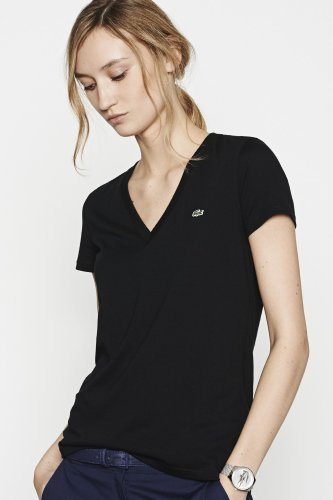 Short Sleeve Jersey V-neck T-shirt