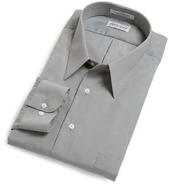 Van Heusen Men's Tall Wrinkle Free Poplin Long Sleeve Shirt, Greystone, 16.5 35/36