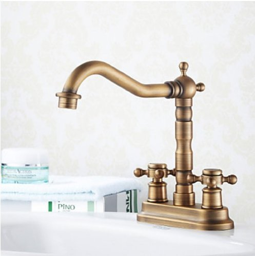 Rozinsanitary 4 Inch Centerset Antique Brass Bathroom Sink Faucet Dual Knob New Ebay