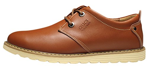 Guciheaven Mens 2015 New British Style Lace-up Casual Leather Shoes(9 D(M)US, Brown)