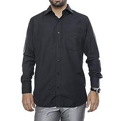 VinaraTrends Black Color Cotton Shirt For Men