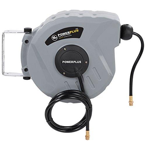 Powerplus-Schlauchtrommel-Druckluftschlauch-10-m-PVC-Schlauch-automatisch