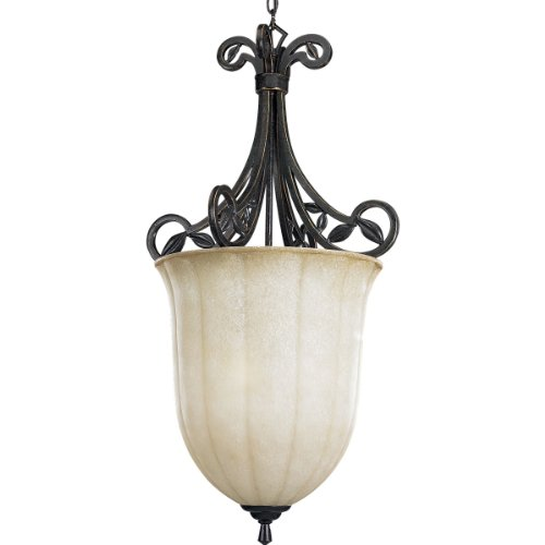 B001BQK5P2 Progress Lighting P3686-84 3-Light Le Jardin Inverted Bowl, Espresso