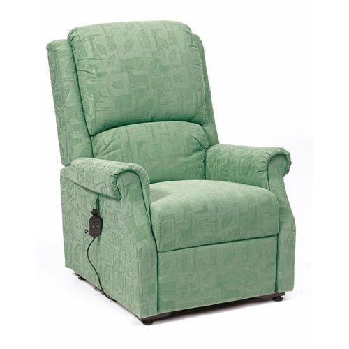 Rise Recline Armchair Green Fabric Chicago