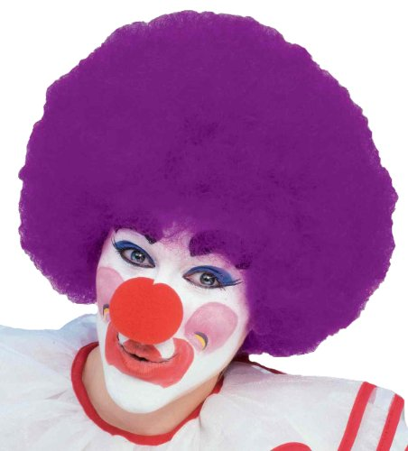 Forum Costume Party Clown Afro Wig, Purple, One Size