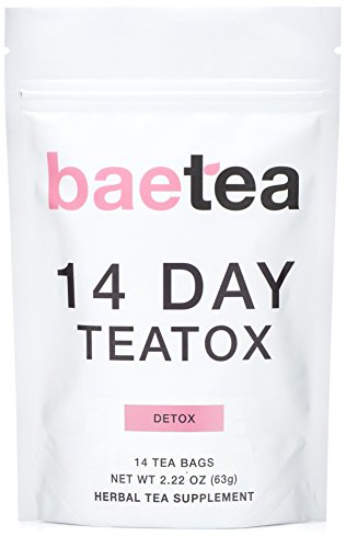Baetea 14 Day Teatox: Gentle Detox Tea. Reduce Bloating and Constipation. Appetite Suppressant. 14 Pyramid Tea Bags. Natural Weight Loss Tea. Ultimate Body & Colon Cleanse.