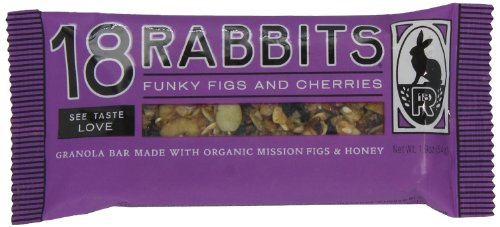 18 Rabbits Funky Figs and Cherries, Organic Granola bar, 1.9-Ounce Bars (Pack of 12)