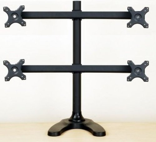 EZM Deluxe Quad LCD Monitor Mount Stand Free Standing up to 4 28
