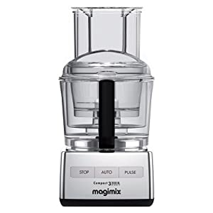 magimix by robot coupe 3200xl 12 cup food processor polished chrome kitchen dining. Black Bedroom Furniture Sets. Home Design Ideas