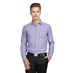 British Line Violet color Slim Fit Striped Shirt