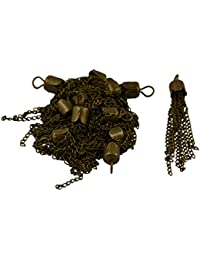 Baoblae 12 Pieces 50mm Chain Tassel Pendants Necklace DIY Jewelry Making Bronze