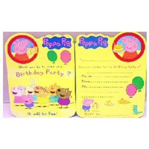 Amazon.com: Peppa Pig Party Invitations, Pack of 8 - Peppa Pig Party