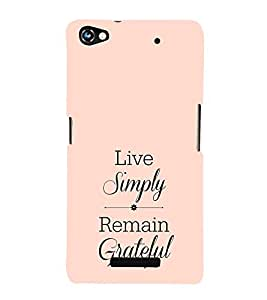 EPICCASE simple life Mobile Back Case Cover For Micromax Canvas Hue 2 A316 (Designer Case)